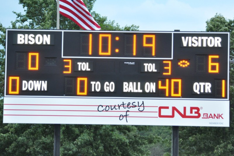 First Football points on new Scoreboard . . .